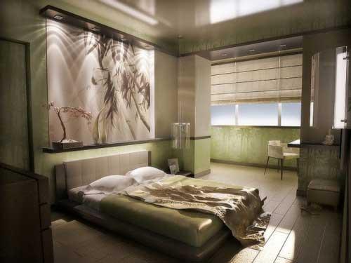 спальня без люстры фото