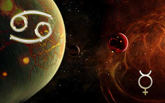 Меркурий в знаке Рака