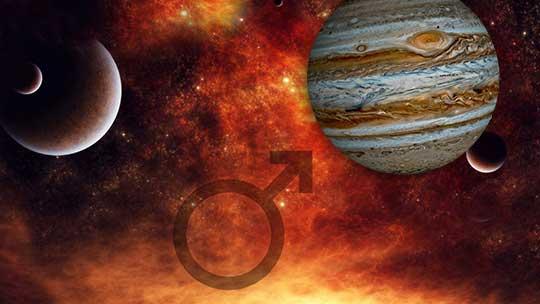 Аспекты Марса и Юпитера