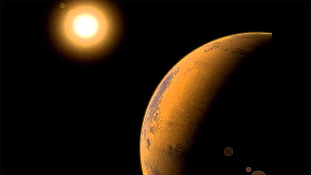Венера в полусекстиле с солнцем