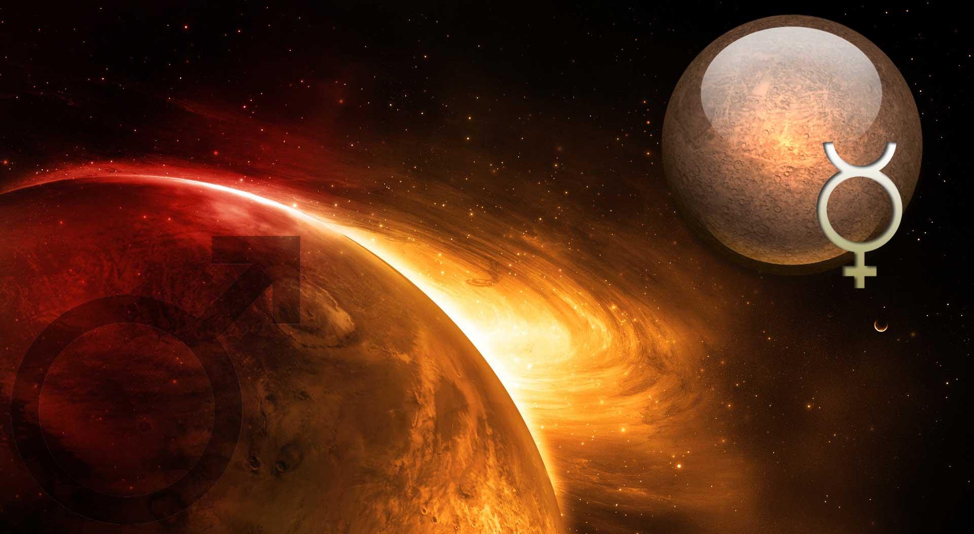 Венера в скорпионе в секстиле с меркурием