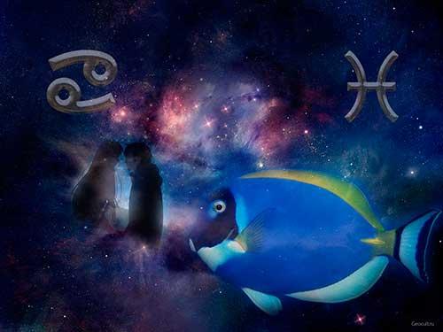 Рыбы и Рак - совместимость знаков