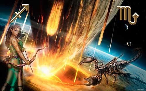 Скорпион и Стрелец - совместимость знаков