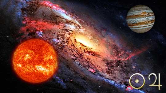 Аспекты Солнца и Юпитера
