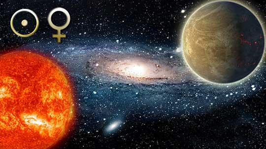 Аспекты Солнца и Венеры