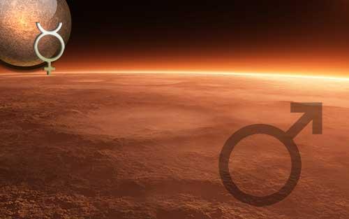 Секстиль Меркурий – Марс