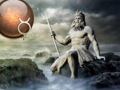 Секстиль Меркурий – Нептун